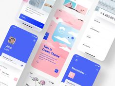 Here's one more with possibilities of our new Animated Mockup System Now available exclusively at 🔥 Screens in the example from the Cream iOS UI Kit - - - Our Marketplace Web And App Design, Mobile App Design, Ui Ux Design, Design Websites, Design Visual, Flat Design, User Interface Design, Best App Design, Design Layouts