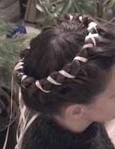 Braid Examples - Ribbons and Semi-Period Braids - Braid Taping, aka Ribbon Binding #historicalhair #SCA