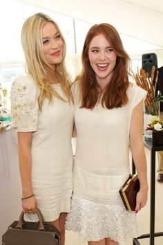 Regis International Polo Cup Laura Whitmore and Angela Scanlon Photo by James Mason Angela Scanlon, Laura Whitmore, Tv Presenters, Passion For Fashion, Drama, White Dress, Polo, Street Style, Celebrities
