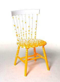 sedia decorata, chair, relook