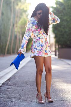 Walk in Wonderland-floral jumpsuit. Discover products you love at getrockerbox.com