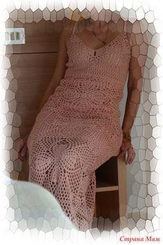 Delicadezas en crochet Gabriela: Vestido de crochet romántica