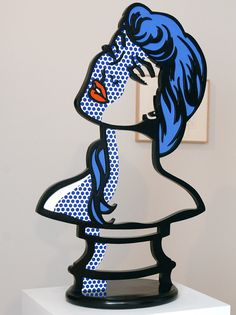 "#RoyLichtenstein Woman: Sunlight, Moonlight, 1996, among 37 Roy Lichtenstein Artworks included in ""Nudes and Interiors"" at The Flag Art Foundation through May 17, 2014."