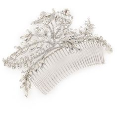 Jennifer Behr Valentina Comb - Crystal ❤ liked on Polyvore (see more jennifer behr hair accessories)