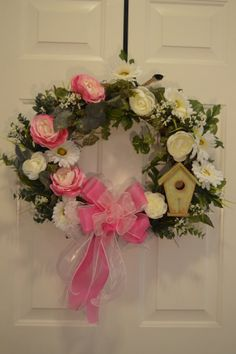 Spring wreath Summer wreath rose wreath grapevine by WreathCreated, $109.00