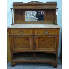 Armario antiguo de farmacia en madera de nogal colecci n - Sofas antiguos de madera ...