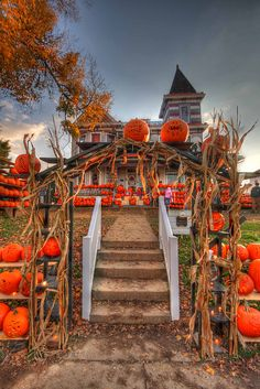 The Pumpkin House Steps by Photo's by Roy, via Flickr