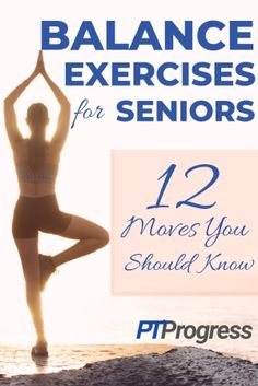 12 Balance Exercises for Seniors Looking to improve your balance? Research shows that balance exercises for seniors can significantly reduce the risk of falls. Here are the top balance exercises I recommend for my patients. Senior Fitness, Fitness Tips, Fitness Motivation, Health Fitness, Fitness Exercises, Stomach Exercises, Fitness Style, Fitness Design, Aerobic Exercises