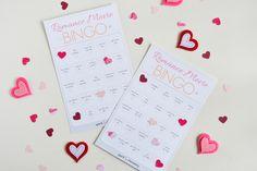 Free printable!  Romance movie bingo from Spark & Chemistry