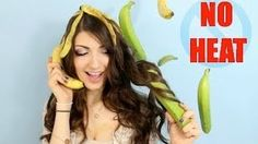Fast HEATLESS curls with a Banana!? - YouTube