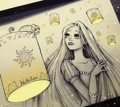 Lights by natalico on deviantart favorites with favorites disney drawings, drawings Disney Sketches, Disney Drawings, Cartoon Drawings, Cartoon Art, Drawing Disney, Disney Rapunzel, Disney Fan Art, Princess Rapunzel, Pencil Art Drawings