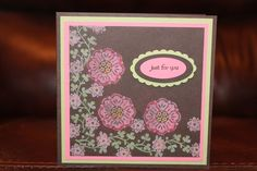 Stamped with versamark pad and then colored with pastel chalks. love it!