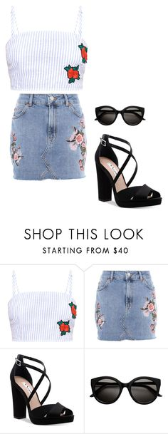 """""""-"""" by worstbiebehavior ❤ liked on Polyvore featuring Topshop, Nina and vintage"""