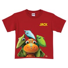 Hop aboard and unearth new adventures when you wear this Buddy, Tiny, Shiny and Don Dinosaur Train T-Shirt.