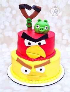 Angry Birds Cake  - Cake by Cups-N-Cakes
