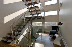 Modern Stairway in this home is design fabulous