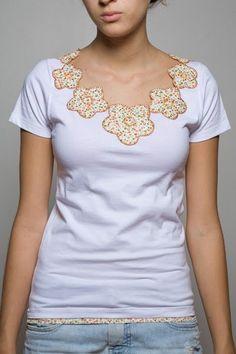 Camisetas patchwork: dicas de moda (coloque muitas fotos)