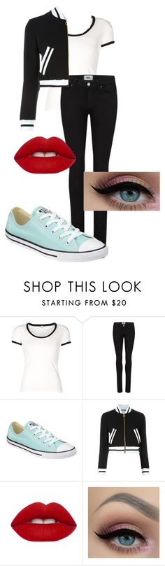 """Untitled #38"" by kbwalrus on Polyvore featuring R13, Paige Denim, Converse, Moschino and Lime Crime"