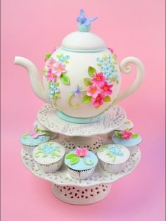 Tea Party Cakes for Mother's Day