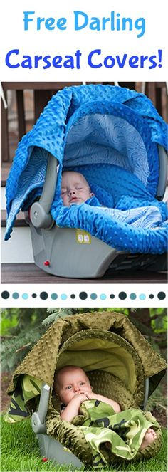 FREE Darling Baby Carseat Cover Sale! {just pay s/h} ~ these make great Baby Shower gifts, too! #carseats #thefrugalgirls