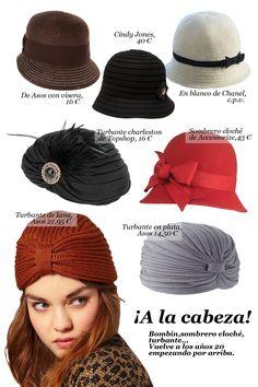 MODA AÑOS 20 - Sombreros, turbantes.