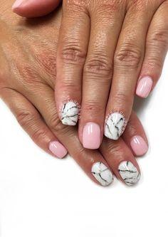 Marble nails. On baby pink nails. #PreciousPhan
