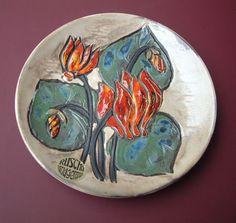 Ruscha Wand-Teller 28,5 cm Durchmesser handgemalt