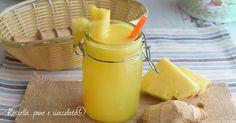 Oggi vi propongo una ricetta a base di Ananas e Zenzero dimagranti e depurativi con e senza estrattore fresca e facilissima!