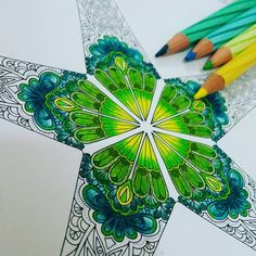 """.jaded starfish lost in the ocean of life... #lostocean #johannabasford #secretgarden #coloringbookforadults #coloring #color #art #staedler #luna…"""
