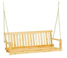 The traditional porch swing seat is solid unfinished fir and comes complete with hanging chain. The swing seat can be hung from a porch beam or rafter or used with either of these metal swing frames: Country Garden model or Woodland model Patio Swing, Swing Seat, Garden Swings, Bench Swing, Garden Seat, Traditional Porch Swings, Porch Beams, Front Porch Addition, Wood Patio Furniture