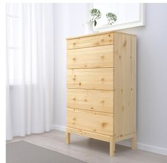 TARVA 5 Drawer Chest, Pine