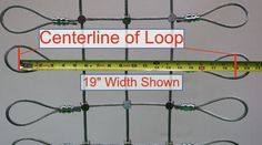 Centerline measurement diagram for ordering steel nets from usnetting.com | US Netting