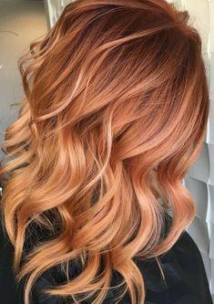 Ginger Hair Color, Strawberry Blonde Hair Color, Red Blonde Hair, Light Blonde Hair, Hair Color And Cut, Copper Blonde Hair, Brunette Hair, Blorange Hair, Champagne Blonde Hair