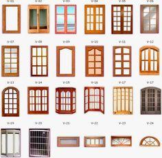 tipos de ventanas para fachadas - Buscar con Google House Front Wall Design, House Window Design, Front Gate Design, Small House Design, Dream Home Design, Door Design, Wooden Window Design, Window Grill Design Modern, Wooden Window Frames