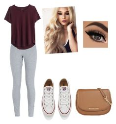"""""""casual"""" by sophie7a ❤ liked on Polyvore featuring beauty, NIKE, Madewell, Converse and MICHAEL Michael Kors"""