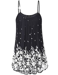 6d2e1741d0b Womens Pleated Chiffon Layered Cami Front Pleat Cool Short Tank Tunic Dress  https://