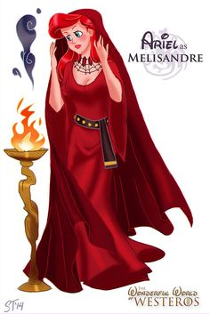 Ariel as Melisandre by DjeDjehuti.deviantart.com on @deviantART