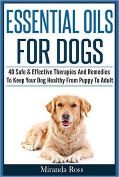 free ebook with 40 essential oil recipes for dogs-- includes bug repellent, ear drops, oral hygiene, skin irritants, calming, and more!
