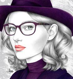Atol Pencil Portrait, Artist Art, Ultra Violet, Pencil Drawings, Art Sketches, Color, Happy Monday, October, Illustrations
