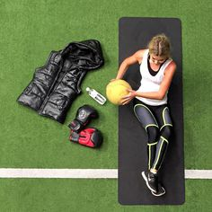 SPORT LUXE  FLAT LAYS // 1. Ultimate place of workout @Fox_Fit 2. The Elliott Label Puffer Vest 3. E By Elliott Label Race Back Tank  4. @tullylou Parna Pants  5. Nike Free 5.0  6. Boxing Gloves  2015 Fitness - You got this  #ElliottLabel #tullylou #foxfit #fitness #sportsluxe #leather #ultimate #workout #sportswear #gym #train #boxing