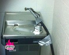 Heyyyy! I could see this being done at our school ...cuts to school budgets call for desperate measures. It could be worse; u could have NO water fountain!