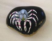 Hand painted Rock of Light Blue Soldier Crab