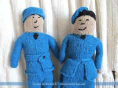 Airman and W.A.A.F. Dolls from Stories In Stitches 3