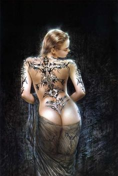 louis royo, a women actually got this tattooed on her back it looked amazing