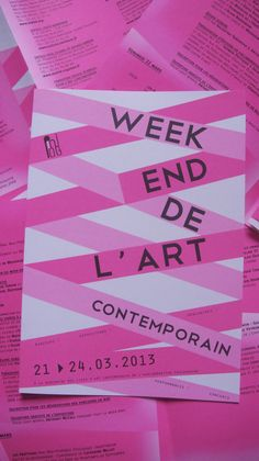 Week-end de l'art contemporain, dépliant, Association PinkPong