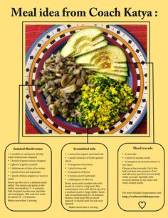 Meal idea: tofu, mushrooms, and avocado