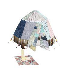 patchwork tent. anna emilia illustration.