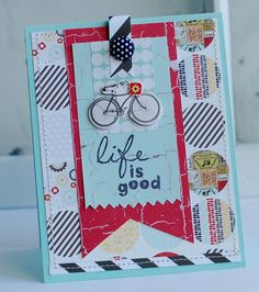 stamp sets, bicycl, card