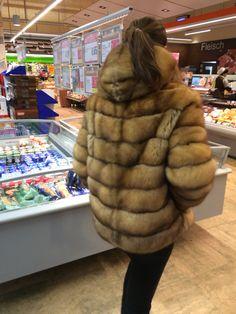 Sable fur hoody