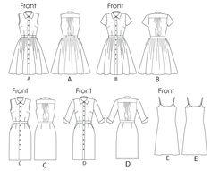 McCall M6696 - Misses' Dresses and Slip